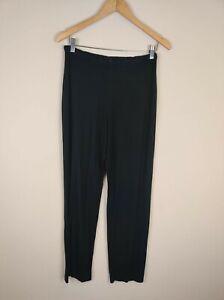 J. Jill Women's S Straight Leg Stretch Knit Pants Black Elastic Waist Small