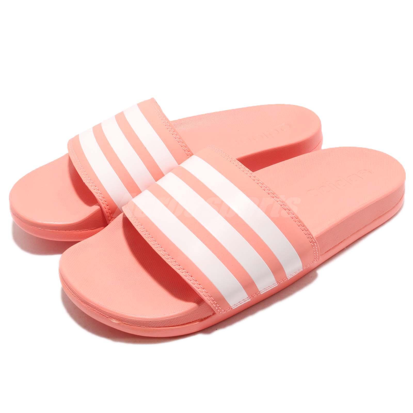 Adidas Adilette Comfort Chalk Coral blanco mujer Sports Sandals Slides B43528