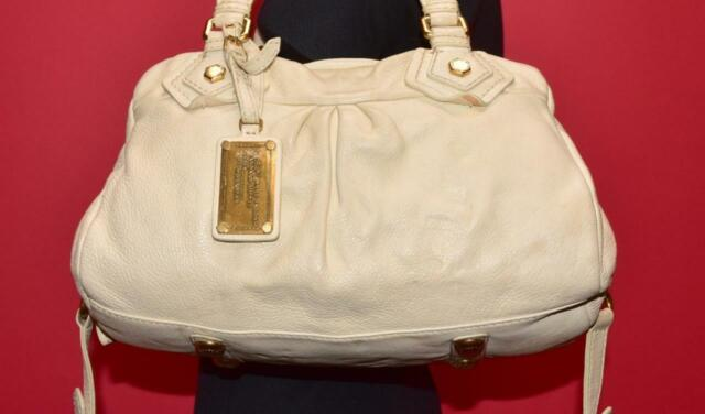 Marc by MARC JACOBS Classic Q GROOVEE Off White Leather Satchel Shoulder Purse