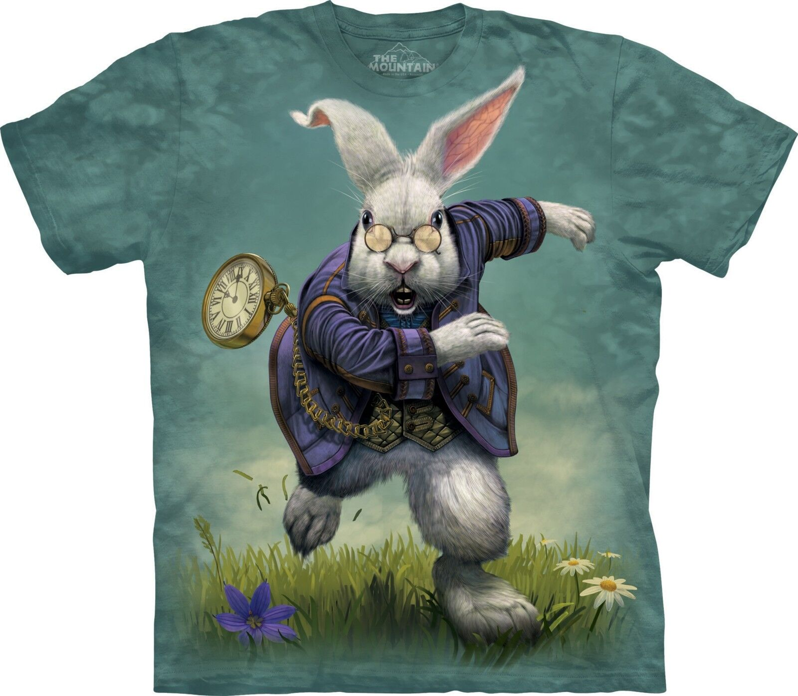 White Rabbit T Shirt Adult Unisex The Mountain