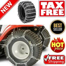 The ROP Shop Pair 2 Link TIRE Chains 18x9.50x8 for MTD//Cub Cadet Lawn Mower Tractor Rider