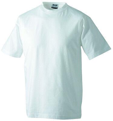 James&Nicholson 4 Pack Herren Hurzarm T-Shirt Weiß Rundhals S - 5XL Baumwolle