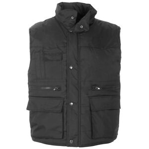Supertouch-Polycotton-Mens-Work-Padded-Bodywarmer-Gilet-Multi-Pocket-S-to-4XL