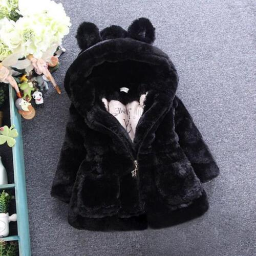 Baby Kids Infant Girls Autumn Winter Hooded Coat Cloak Jacket Thick Warm Clothes