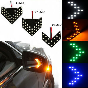 Details about 2pcs Sequential LED Arrow Car Rear View Mirror Turn Signal  Indicator Light