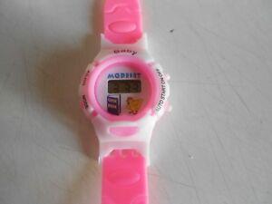 1ab1650dd5314 Montre petite Fille d enfant Quartz Digital Silicone rose