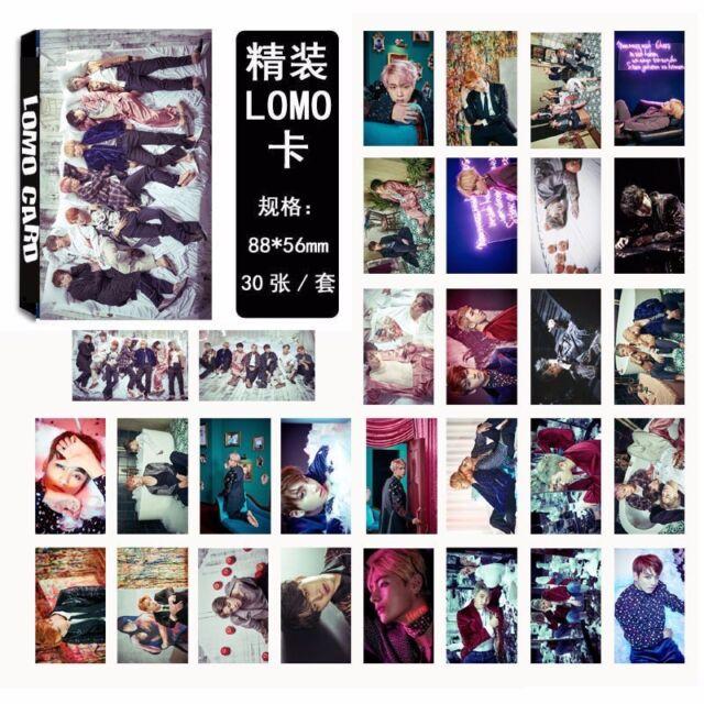 30pcs Set KPOP BTS Bangtan Boys Album 【WINGS 】Photo Poster Lomo Cards Gift