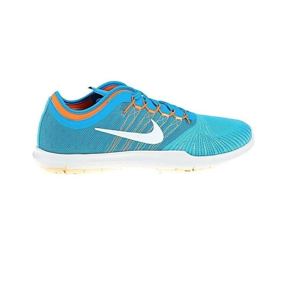 Zapatos promocionales para hombres y mujeres Womens NIKE FLEX ADAPT TR Blue Textile Running Trainers 831579 400