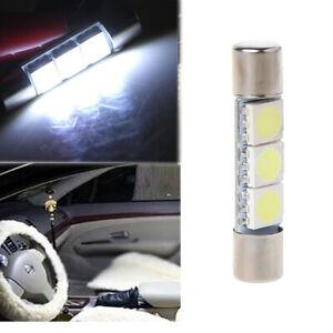 2X Car T6 3-SMD 5050 White 31mm LED Bulbs Lights Sun Visor ...