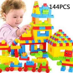144pcs-Plastic-Building-Blocks-Kids-Toys-DIY-Puzzle-Educational-Toy-Baby-Gift