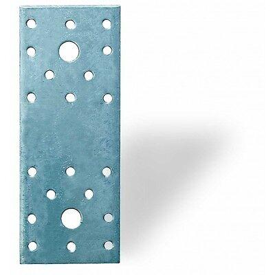Flachverbinder 2,5 - 3 mm verzinkt Lochplatte Lochbleche Lochblech Holzverbinder