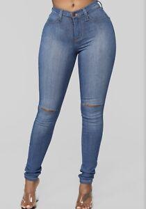 Details about Fashion Nova Canopy Jeans Medium Blue Wash P831 NWT Size 1
