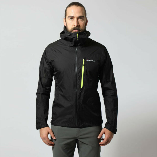 Montane Mens Alpha Balance Jacket Top Orange Sports Outdoors Full Zip Hooded