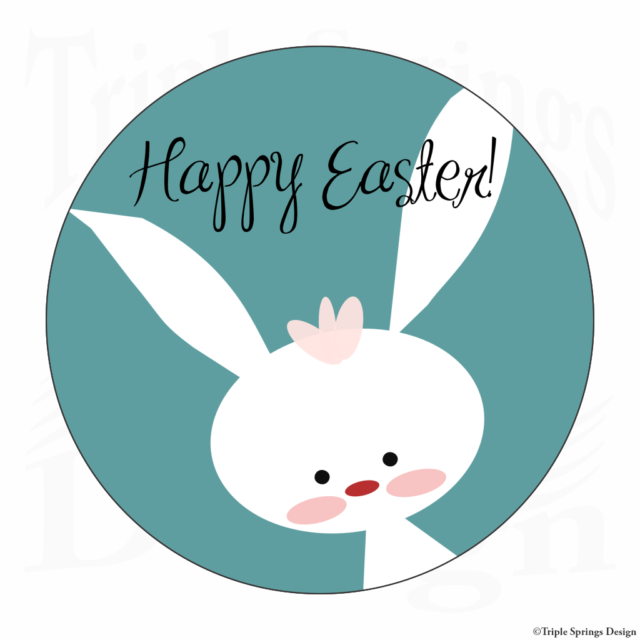 Blue Panda Happy Easter Bunny Stickers for Kids 8 Designs, 1000 Pieces