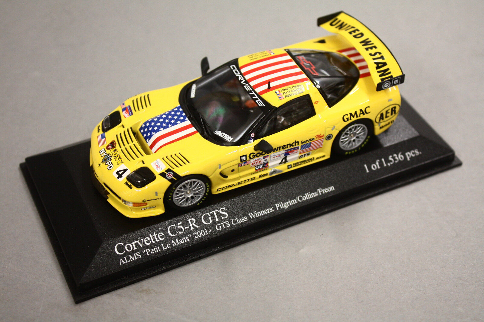 Stars and Stripes Corvette C5-R GTS  4 ALMS Petit LeMans 2001 1 43 Minichamps  | Nutzen Sie Materialien voll aus