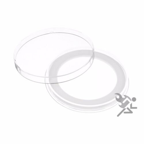 """3 Air-Tite Brand Y50.8mm White Ring Capsule Holders for 2/"""" Challenge Coins Qty"""