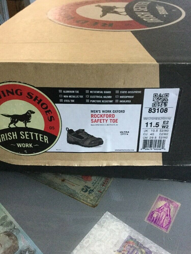 rouge Wing Irish Setter Bottes 11.5 83108 Sécurité Travail Bout Chaussures