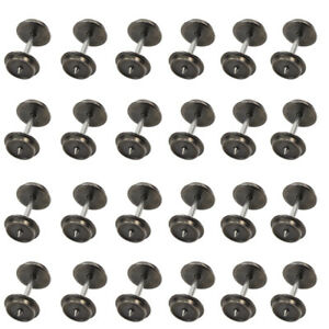 HP0387-24-PCS-36-039-039-Metal-Wheels-for-Model-Train-1-87-HO-Scale-New-AC-Wheel-set