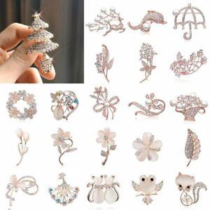 Charm-Women-Crystal-Breastpin-Animal-Flower-Leaf-Brooch-Pin-Jewelry-Wedding-New