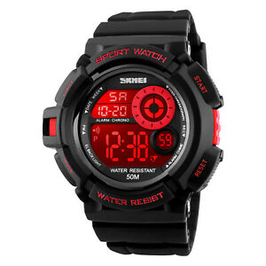 Men-039-s-Sport-Military-Digital-Quartz-Shock-Chrono-Waterproof-Colorful-Wrist-Watch