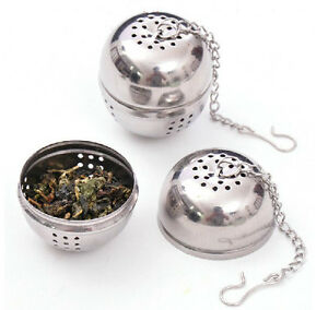 Stainless-steel-ball-tea-infuser-strainer-mesh-filter-loose-tea-leaf-spice