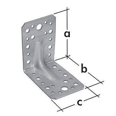 Winkel Bauwinkel Winkelverbinder 90 x 50 mm mit Verstärkung KP3