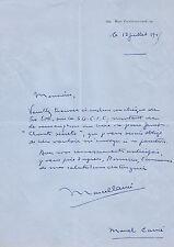 Marcel CARNE Ensemble de 3 lettres autographes signées sur A. Rimbaud et J.Genet