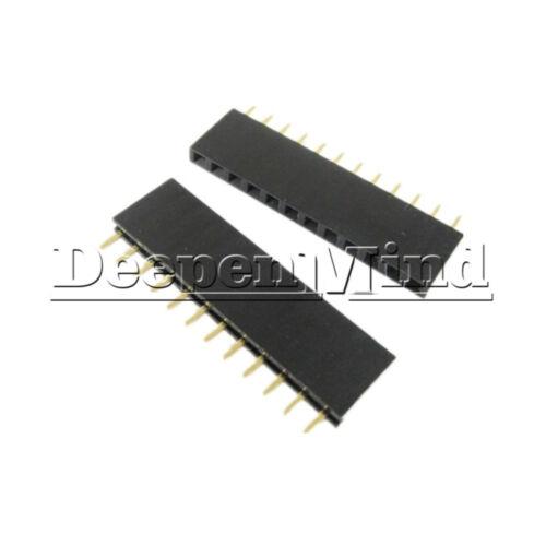 10PCS 12Pin 2.54mm Pitch Header Single Row Female Straight Strip PH 8.5mm