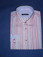 Mens 100% Cotton Designer Shirt: Multicolour Stripes Made For Famous Store