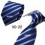 Classic-Red-Black-Blue-Mens-Tie-Paisley-Stripe-Silk-Necktie-Set-Wedding-Jacquard thumbnail 32
