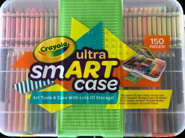 150 pcs Crayola Ultra Smart Case Art Set with Crayons, Markers and Pencils