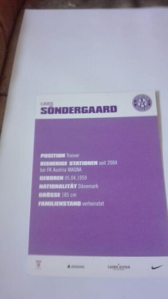 Autografer, Lars Søndergaard autograf sønderjyske