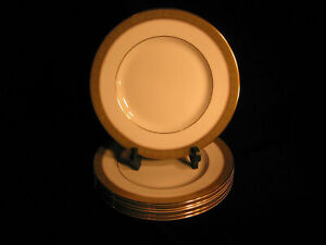 BELVEDERE Vintage Royal Doulton Bone China England H5001 SALAD Plate Lot of 6