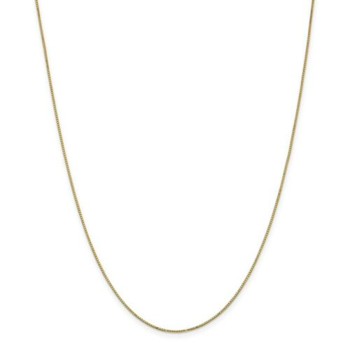 """30/"""" Details about  /14k Yellow Gold 0.90mm Solid Box Chain w// Spring Ring Clasp 14/"""""""