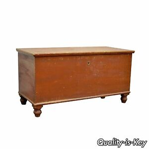 Antique Pennsylvania Dovetailed Red Painted Rustic