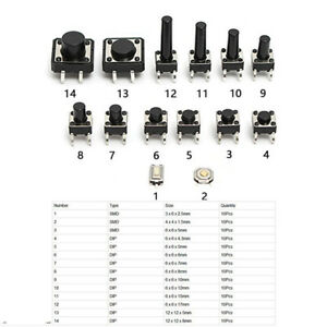 140pcs-14-Types-Momentary-Tactile-Push-Button-Switch-Micro-SMD-Tact-Switches-BES