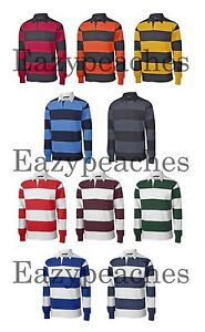 e0e7530fba Peaches Neuf pour Homme Rayure,Manches Longues,Polos de Rugby,Sport ...