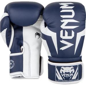 Venum-Elite-Skintex-Leather-Hook-and-Loop-Training-Boxing-Gloves-White-Navy-Blue