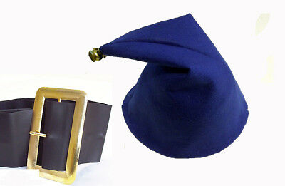 Jokeshop.com NODDY HAT WITH BELL SMURF GNOME ELF HAT FANCY DRESS PARTY BLUE