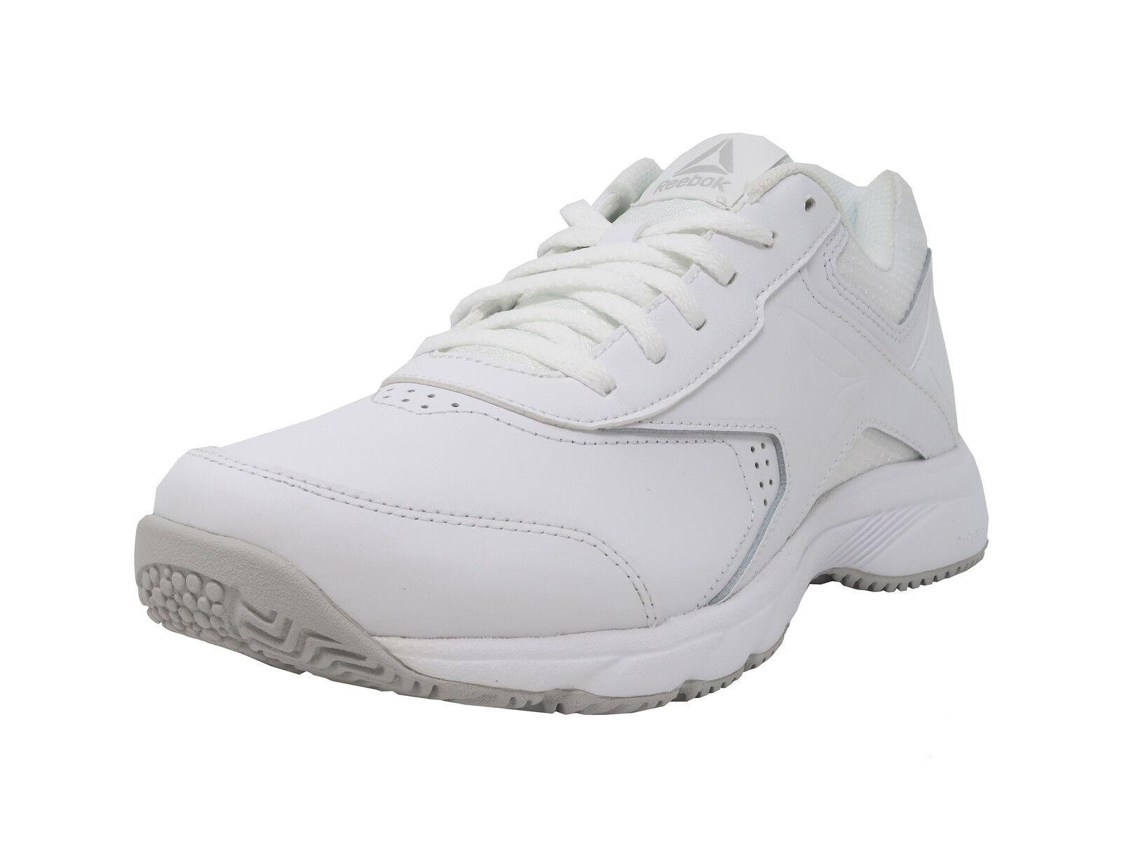 REEBOK Work N Cushion 3.0 White Wide MemoryTech Sneakers Lace Up Women Shoes