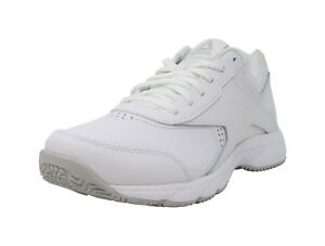 08c9fdd2458d0a REEBOK Work N Cushion 3.0 White Wide MemoryTech Sneakers Lace Up ...