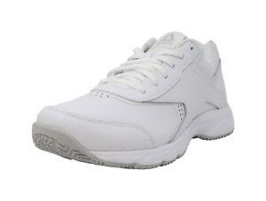 1c54c773080af2 REEBOK Work N Cushion 3.0 White Wide MemoryTech Sneakers Lace Up ...