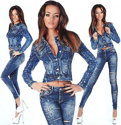 Analitico Sexy Da Donna Elegante Wash Blazer Skinny Slim Vita Bassa Y 752-mostra Il Titolo Originale Imballaggio Di Marca Nominata