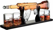 Gun Lovers Large Decanter Set Bullet Glasses - Limited Edition Elegant Rifle Gun