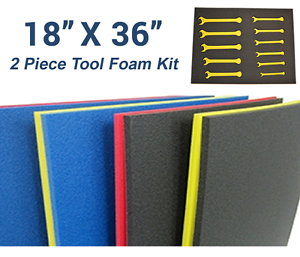 """Tool Box Foam Drawer Organizers Do-It-Yourself DIY Pack of 1 22/"""" x 26/"""""""