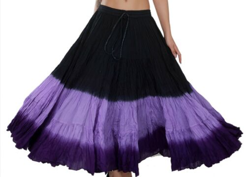 BLP Skirt 4 Tier 25 Yard Cotton Belly Dance Tribal Gypsy jupe boho