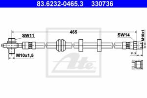 Bremsschlauch ATE 83.6232-0465.3