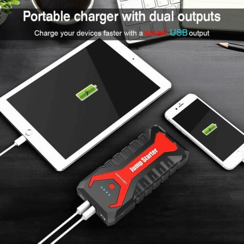 12V 2000A Car Portable Jump Starter Booster Box Power Bank Battery Charge SEALED