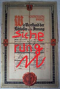original-Gesellenbrief-Reichsverband-des-Deutschen-Schlosserhandwerks