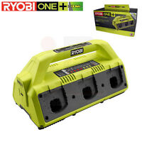 Ryobi P135 18v 18 Volt One+ Battery 6-port Supercharger, Upgraded P125 Charger